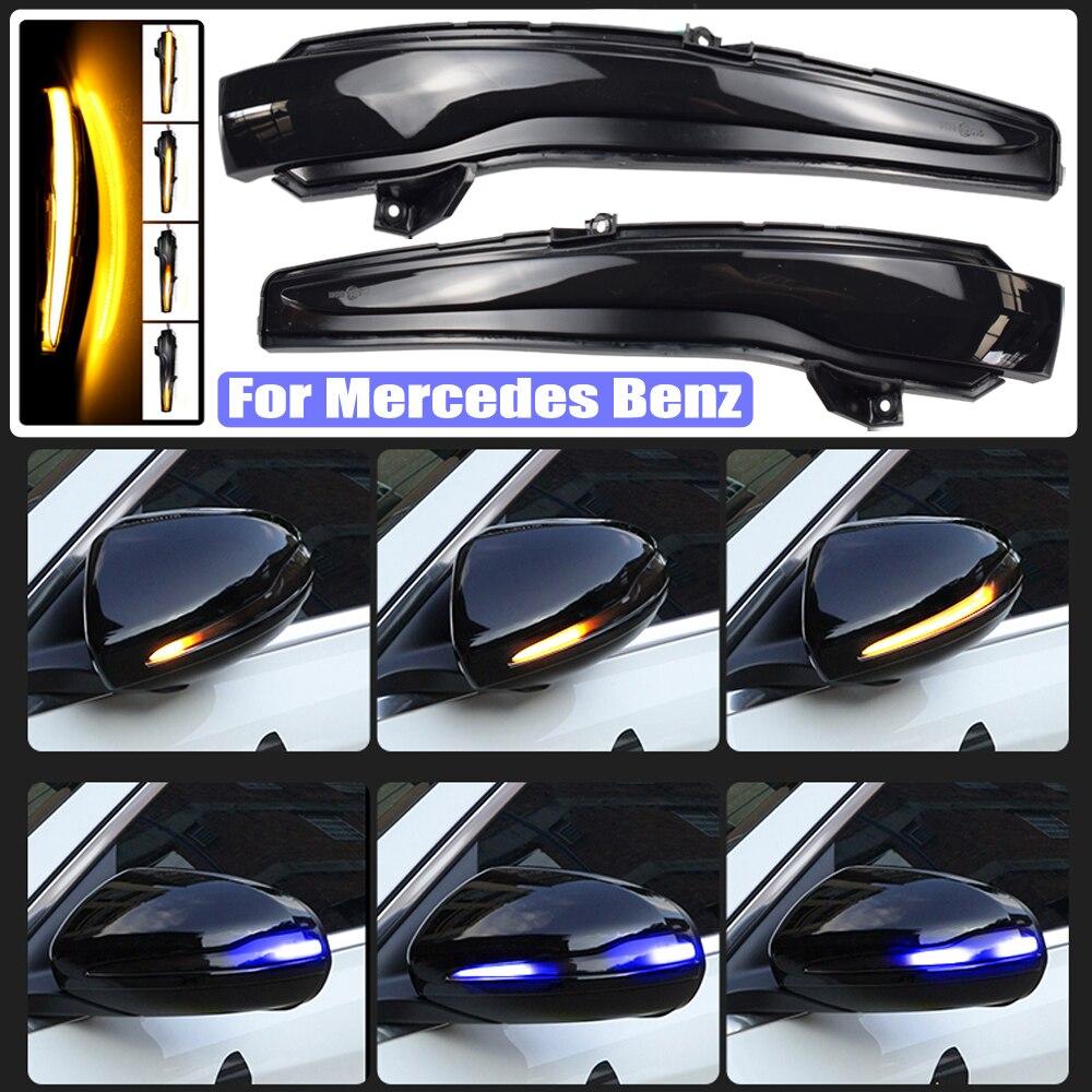 Scroll LED Dynamic Turn Signal Light For Mercedes Benz C Class W205 E W213 S W222 Side Mirror Flashing Light Repeater Blinker